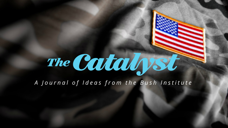 THE CATALYST | THE MODERN MILITARY  The spring issue of The Catalyst: A Journal of Ideas from the Bush Institute explores the spectrum of threats the U.S. faces and the military America needs to deal with them. From traditional challenges such as Russia, China, and North Korea, to cyber warfare and non-state actors like ISIS, leading experts discuss present dangers and how we build a military to defeat them. We also talk to warriors featured in President George W. Bush's Portraits of Courage about their battle with the invisible wounds of war and their journey to recovery.
